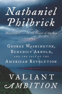 "Book cover: ""Valiant Ambition: George Washington, Benedict Arnold, and the Fate of the American Revolution"", by Nathaniel Philbrick. (Viking via AP)"